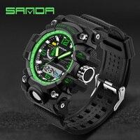 SANDA Sport Watch For Men Analog Quartz Digital Watch Waterproof Date Calendar Led Watches Men Military
