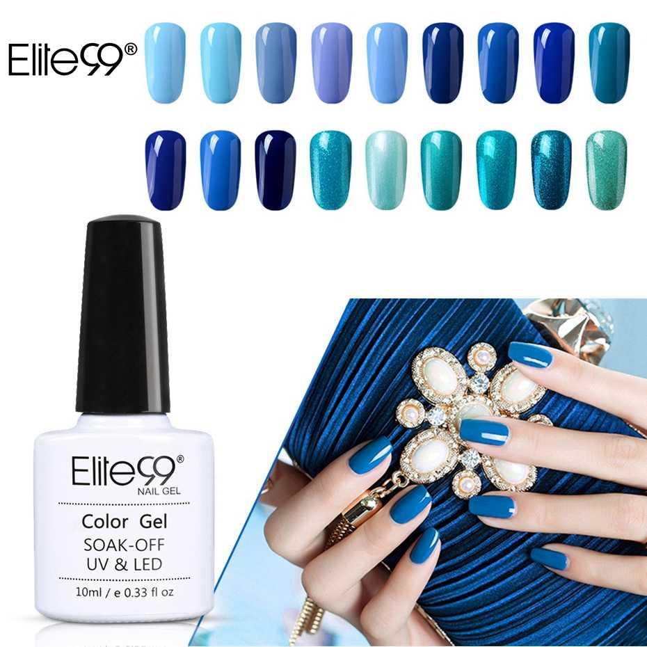 Elite99, 10 ML, barniz de serie Azul, esmalte de Gel híbrido para manicura, esmalte de la suerte, esmalte semipermanente para uñas pintadas Gellak