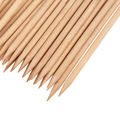 200pcs Nail Art Orange Wood Stick, Manicure Pedicure Care Salon Cuticle Pusher Remover,Nail Rhinestone Dotting Pen Tools