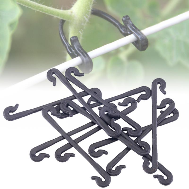 100Pcs Garden Stems Vegetable Grafting Clips Agricultural Plant Hook Supports Vines Fastener Bundled Tied Buckle Tools Fixed
