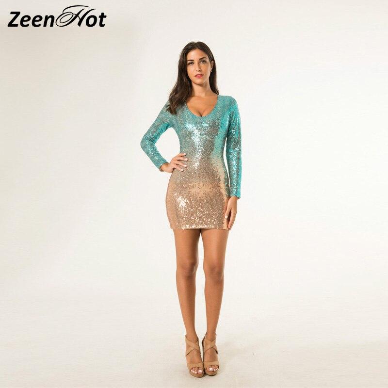 Aliexpress.com : Buy Women Sexy Green Long Sleeves Gold