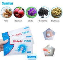 Sumifun 72Pcs=12bags New Diabetes Sticker Herbal Cure Lower Blood Glucose Treatment Plaster D1277