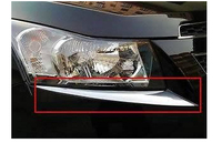 Chrome Head light Eyelid trim FOR Chevy Cruze 2009 2010 2011