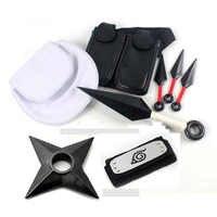 Anime Naruto Cosplay Requisiten Sammlungen Kunststoff Kunai Shuriken Ninja Waffen Taschen Set für Halloween Spielzeug