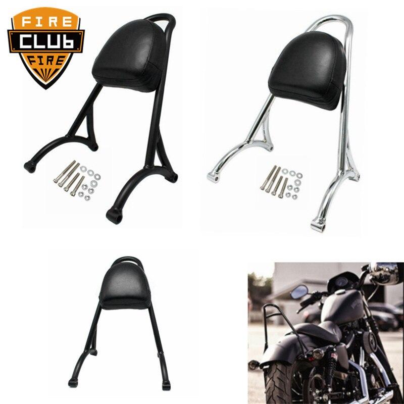 For Harley Sportster XL 883 1200 04-16 Iron Sissy Bar Passenger Backrest Motorcycle Back Rest