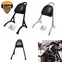 For Harley Sportster XL 883 1200 04 16 Iron Sissy Bar Passenger Backrest Motorcycle Back Rest