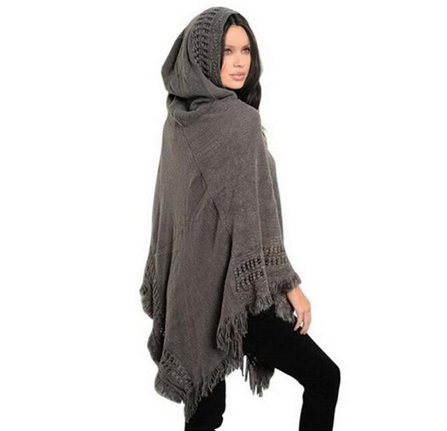6d2d637980 Big scarves winter scarf Sweater poncho women Bohemian Shawl Scarf Hooded  blankets Cape shawl Ponchos and Capes Q6-25F