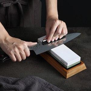 Image 5 - HEZHEN aiguiseur de couteaux de cuisine, meule, diamant Surface daffûtage, couteau en pierre à aiguiser, outil daffûtage de cuisine avec Guide dangle