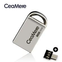 Ceamere CD04 USB 미니 플래시 드라이브 8 기가 바이트/16 기가 바이트/32 기가 바이트/64 기가 바이트 펜 드라이브 금속 Pendrive USB 2.0 플래시 드라이브 메모리 스틱 USB 디스크 1 기가 바이트/2 기가 바이트