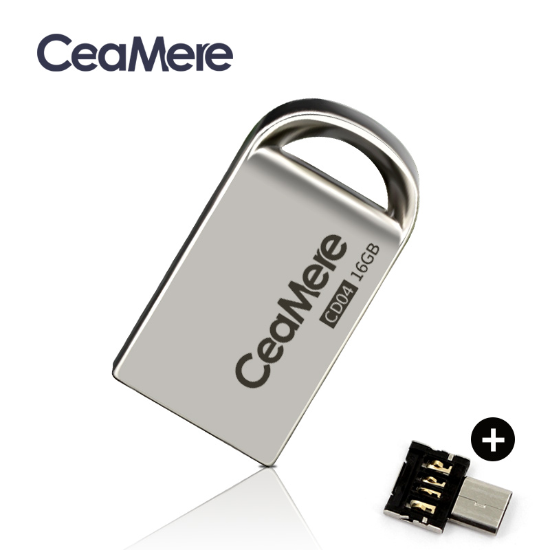 Ceamere CD04  USB Mini Flash Drive 8GB/16GB/32GB/64GB Pen Drive Metal Pendrive USB 2.0 Flash Drive Memory Stick USB Disk 1GB/2GB