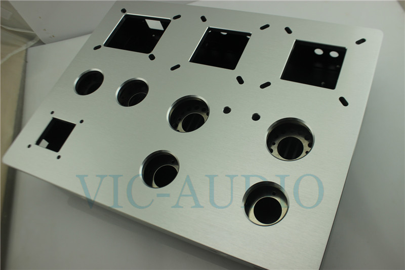 Power Amplifier Chassis Aluminium and Iron DIY 300B 2A3 Tube Audio Chassis 380mm 290mm 80mm 1PC