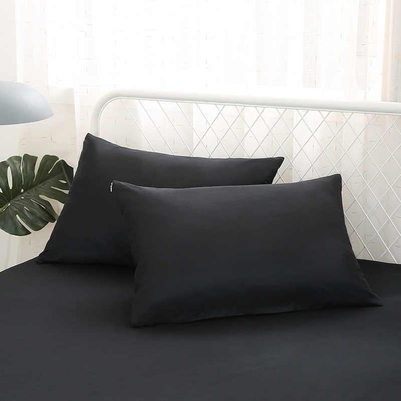 Водонепроницаемый чехол для кровати 1 шт сплошной цвет Матрас протектор для влага в кровати дышащее анти-клевое покрытие матраса черный серый темно-синий