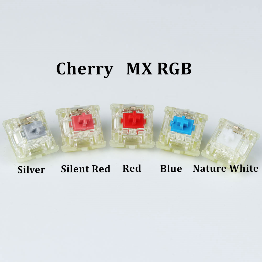 Original Cherry MX RGB Switches 3pin SMD Blue/Nature White/Red/Speed Silver/Silent Red MX Switch For Mechanical Gaming Keyboard