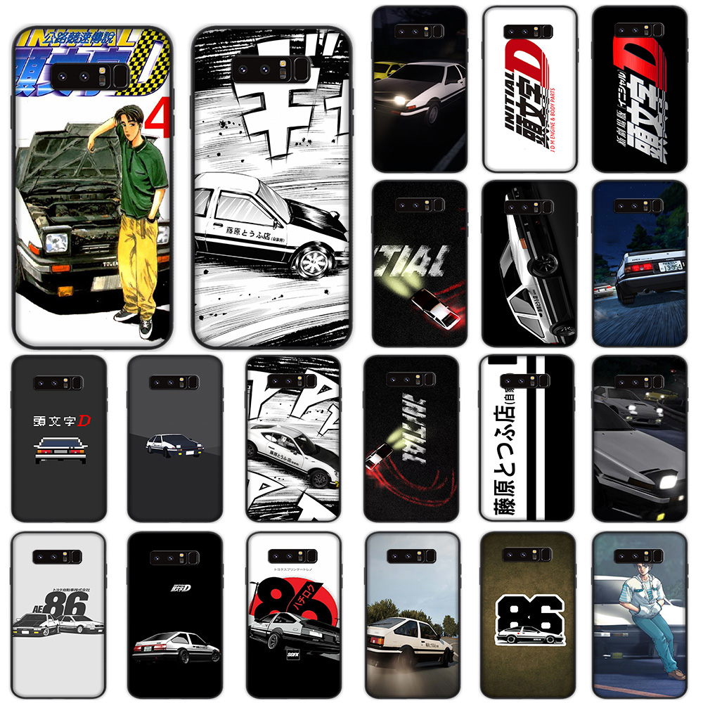 INITIAL D AE86 Soft Case For Samsung Galaxy Note 8 9 M10