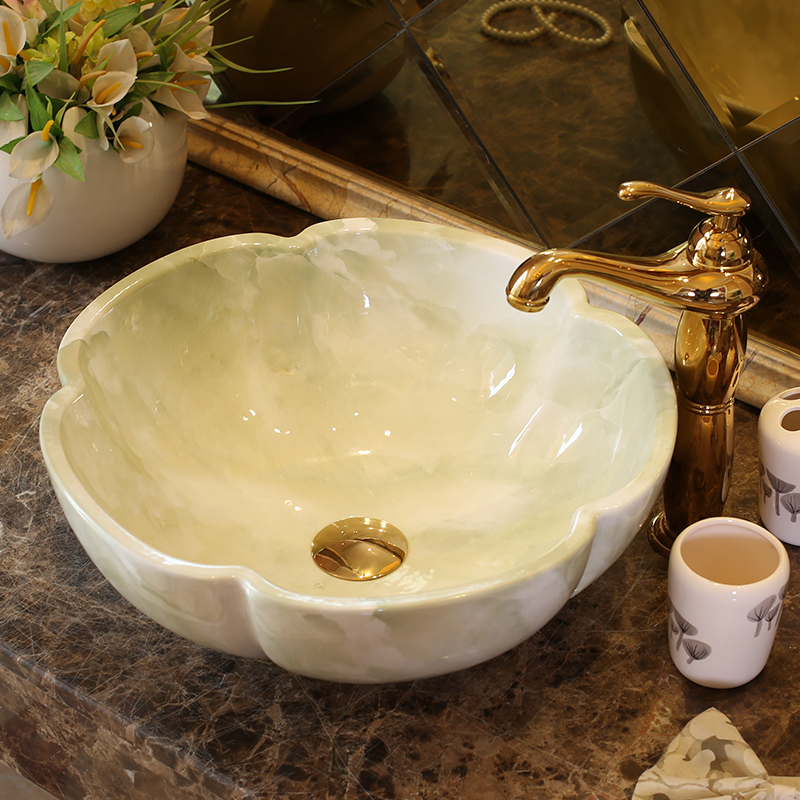 China Artistic Europe Style Counter Top porcelain wash basin bathroom sinks ceramic art lavabo bowl (2)
