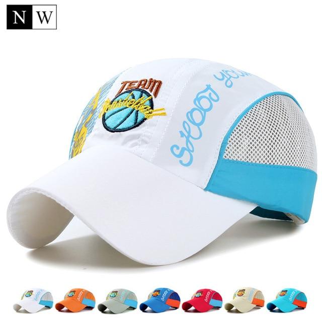 [NORTHWOOD] Kids Baseball Cap Snapbacks Hat Summer Quick-Drying Sun Baseball Hat Boy Girl Gorras Hip Hop Children Size 52-54cm