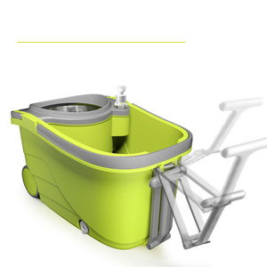 Image 4 - Suspended Separation Bucket  Mop With Wheels Spin Noozle Mop Clean Broom Head Cleaning Floor Windows Clean Tools