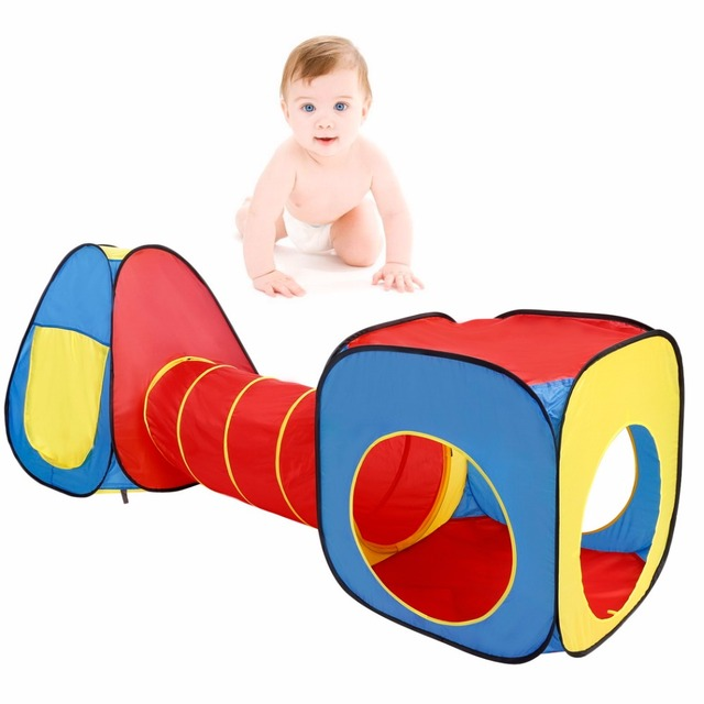 Hot 3 in 1 Playing Tent Indoor Kids Play House Outdoor Toys Baby Tunnel Tents Ball  sc 1 st  AliExpress.com & Hot 3 in 1 Playing Tent Indoor Kids Play House Outdoor Toys Baby ...