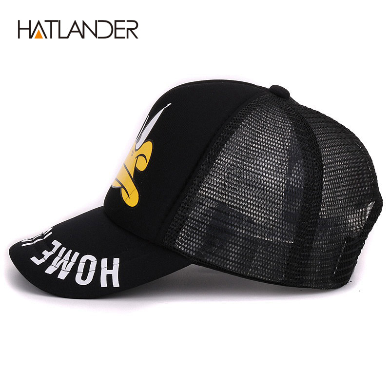 Cute Children Baseball caps Baby Girls Sun Visor Hats Boys Snapback Letter A Embroidery Kids Summer mesh Cap