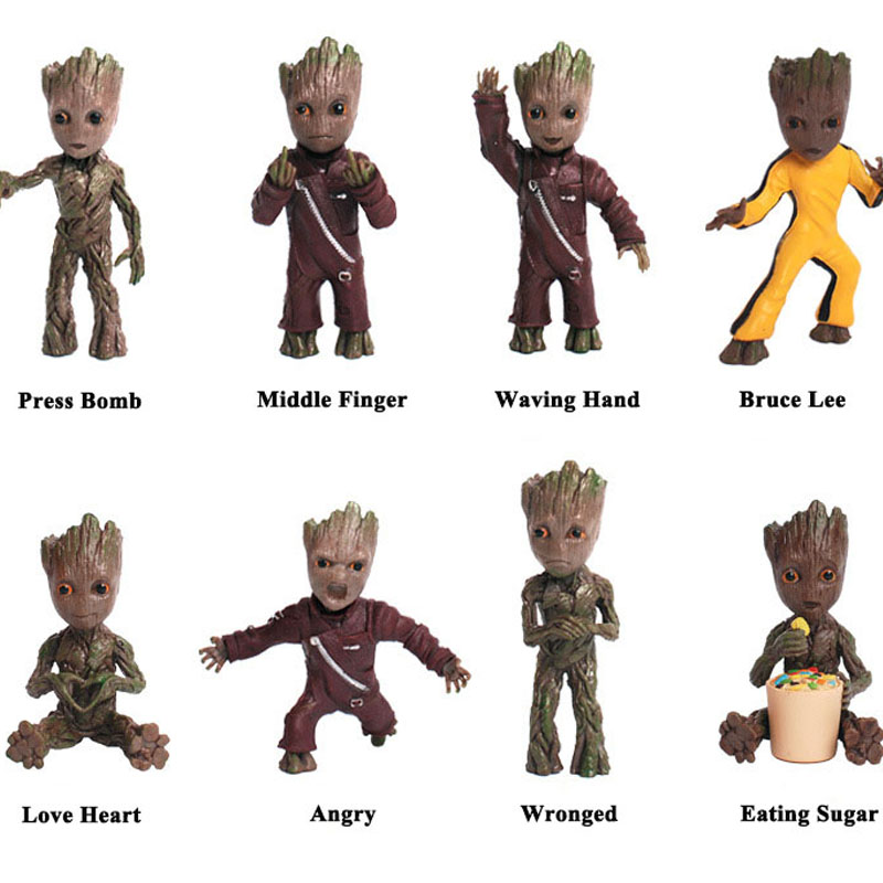 1Pcs Guardians Of the Galaxy 2 Tree Man Action Figure Doll Toys Anime Mini PVC Figure