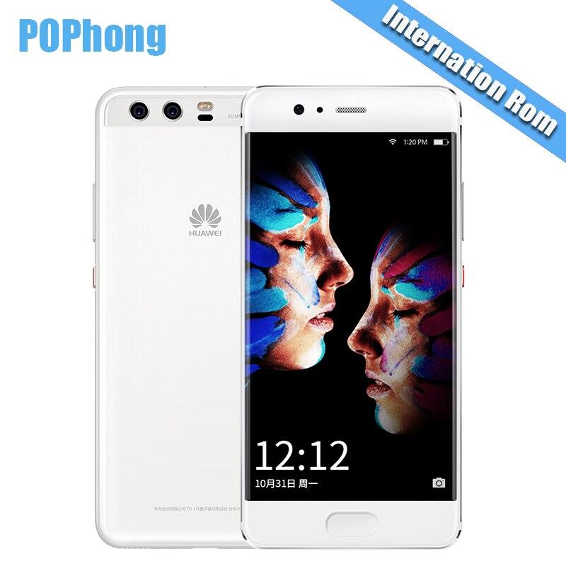 """Глобальной прошивки huawei P10 4G RAM 6 4G/128G ROM 5,1 """"Android 7,0 смартфон KIRIN 960 Octa Core двойной реального Камера 20.0MP + 12.0MP"""