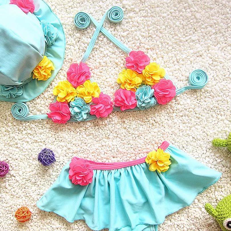 Veshjet e rrobave Bosudhsou H-2 ose Dy Vajza Dy Pjesë Ngjyra banje - Veshje për bebe