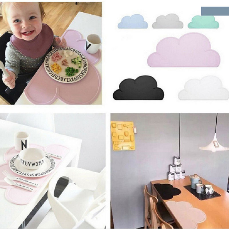 Nubes de estilo nórdico esteras de tabla de silicona a prueba de - Alimentación - foto 4