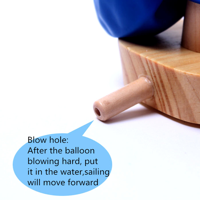 Schylling Wooden Baby Bath Toy Balloon Boat Bath Toy