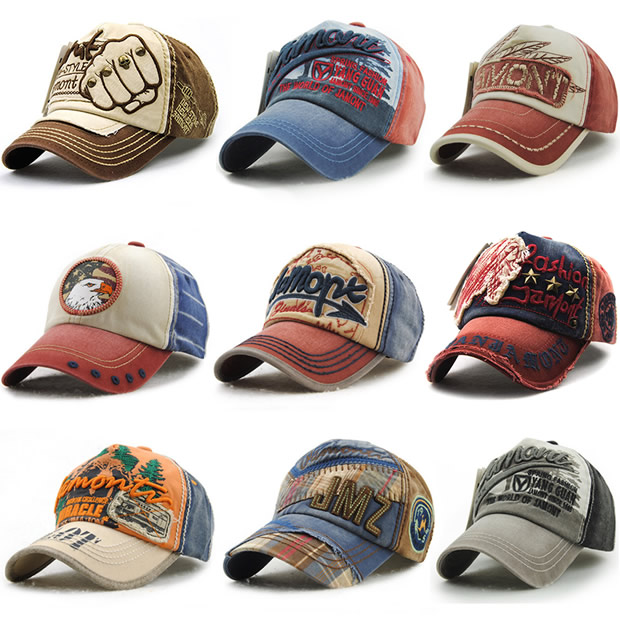 Personality Cowboy Embroidered Baseball Hat Male Curved Eagle Hat Teen Girl Fashion Cap wool felt cowboy hat stetson coffee