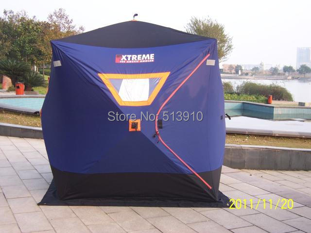 Luxury winter ice fishing tent anti cold anti fire for Ice fishing tents