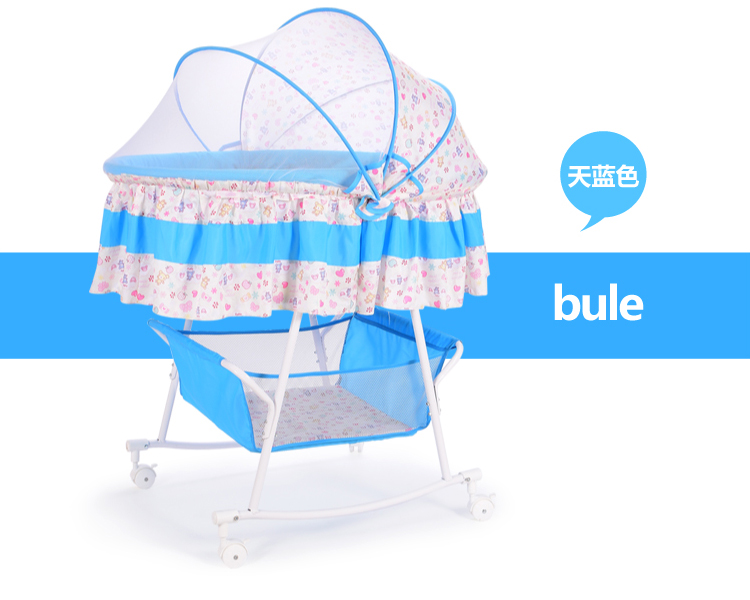 Baby cradle bed small concentretor newborn baby bed perambulatory band mosquito net multifunctional bb bed with roller sleeping baby cradle bed baby crib electric cradle portable baby bed folding automatic concentretor band mosquito net