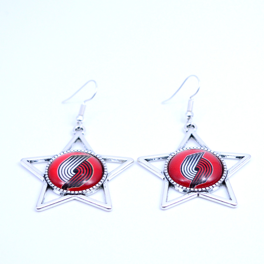 Earrings Portland Trail Blazers Charms Dangle Earrings Sport Earrings Basketball Jewelry for Women Birthday Party Gift 5 pairs