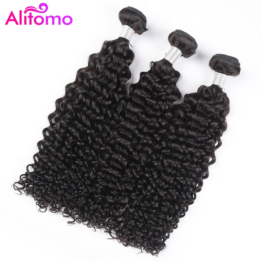 Hair Extensions & Wigs Alitomo Peruvian 100% Human Hair Bundles Kinky Curly Hair Weaves 1/3/4 Pcs 8-26 Inches Natural Color Remy Hair Extensions Save 50-70%