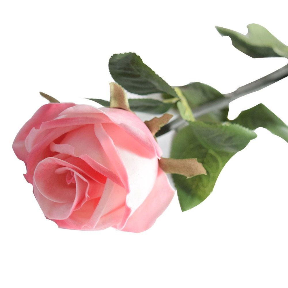 24 8 Single Stem Pink Rose For Wedding Decoration Pu