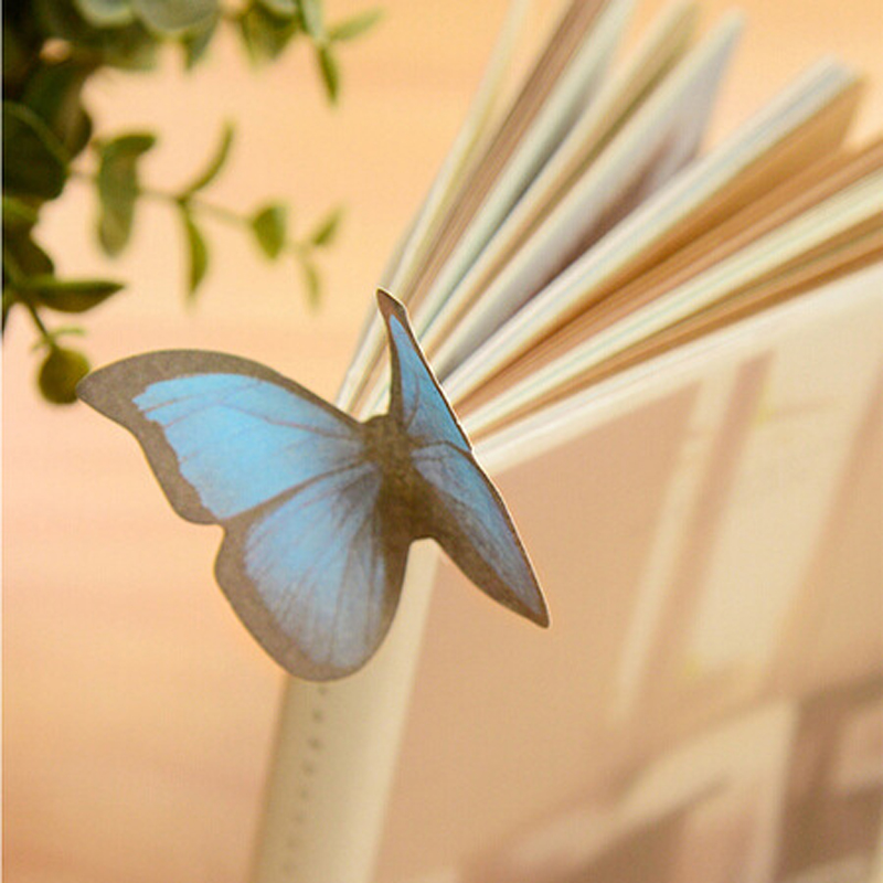 DIY butterfly Sticky Notes Cute Kawaii Memo Pads Sticker Post Bookmark Marker Flags Sticker Planner Stationery Gift
