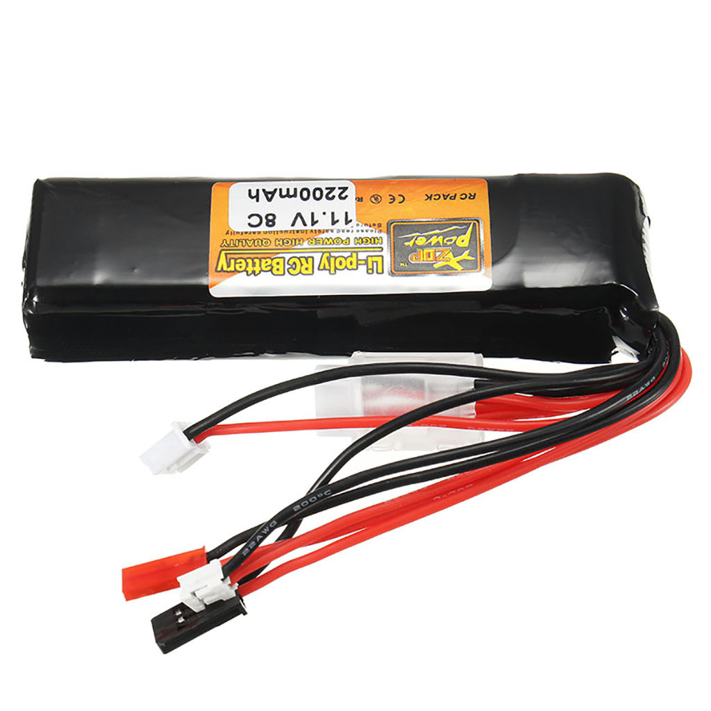 Image 2 - Portable Suitable Charging ZOP 11.1V 2200mAh 8C 3S Battery JST Plug For RC Car Airplane Helicopter Part convenient and practical-in Parts & Accessories from Toys & Hobbies