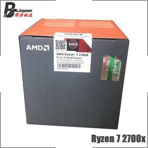 Image 3 - AMD Ryzen 7 2700X R7 2700X 3.7 GHz Eight Core Sixteen Thread CPU Processor L3=16M 105W YD270XBGM88AF Socket AM4 New and with fan