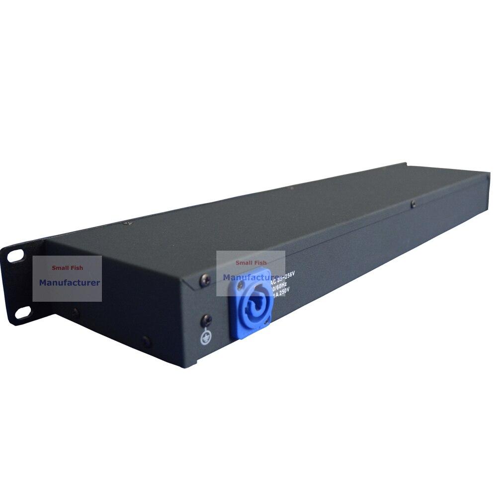2 pz/lotto DHL/FedEx Libero DMX512 Splitter Luce Amplificatore di Segnale Splitter Otto Vie Distributore DMX Per Luce in movimento Della Testa - 4