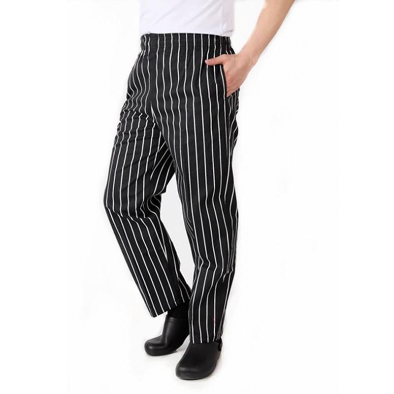 e85034d365 Chef Pantaloni di Lavoro Cameriere Pantaloni Elastici Comodi Cuoco ...