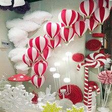 Colorful Hot Air Balloon Decoration Wedding Shop Mall Atrium Hanging Decoration Birthday Party Decor XH8Z ST26