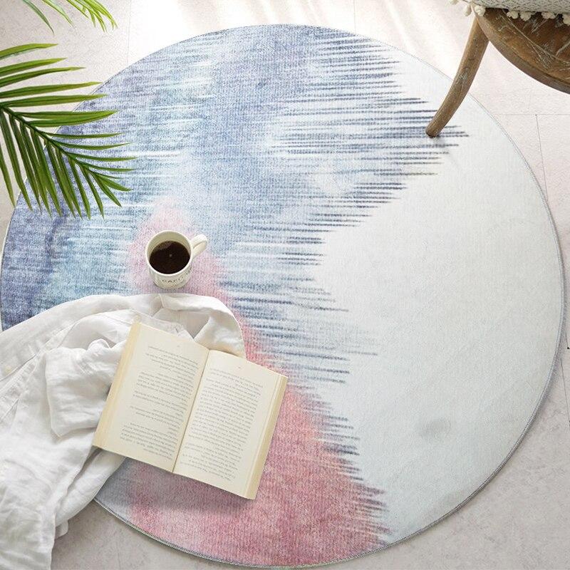 Tapis rond Style minimaliste nordique Loartee chambre salon cuisine salle d'étude décoration de la maison tapis tapis de chambre d'enfants Tapetes - 6
