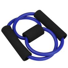 Women Yoga Sport Equipment 8 word String Chest Developer Rubber Entertainment Pull Rope Resistance fitness Band Power Training