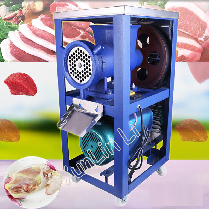 Electric Meat Mincer Commercial Electric Meat Grinder Chicken Skeleton Mincing Machine for Livestock Farm 42 ets714 electric commercial meat tenderizer machine