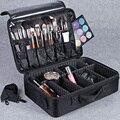 Hotrose Maleta para Cosméticos de Maquillaje Bolsa de Almacenamiento de Gran Capacidad Profesional Desmontaje Libre Maletas Estuche de Cosméticos