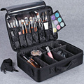 Hotrose Professional Makeup Suitcase for Cosmetics Large Capacity Storage Bag Free Disassembly Suitcases Cosmetic Case