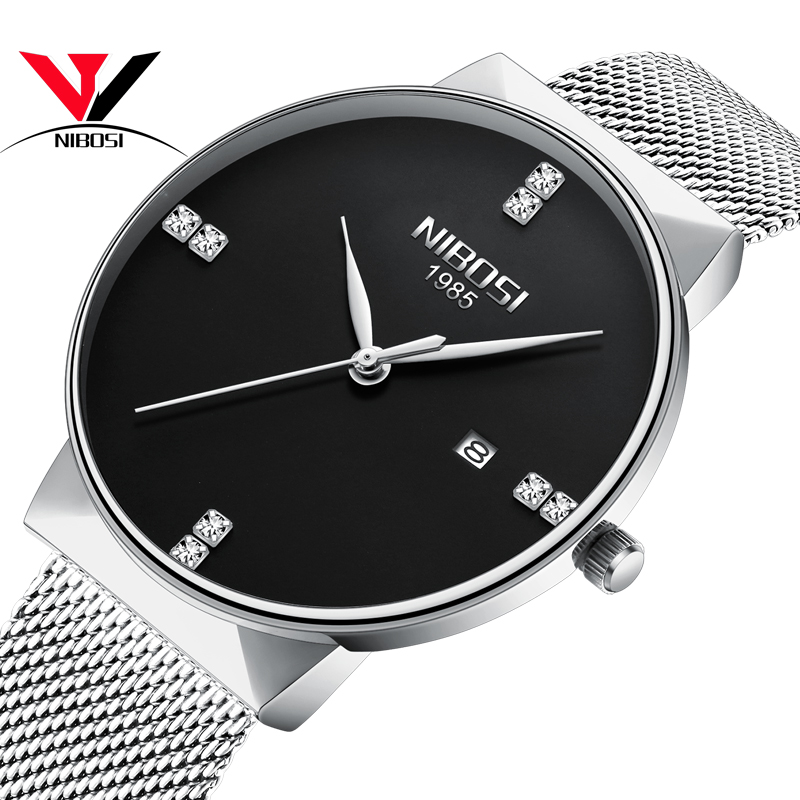 Relogio Feminino NIBOSI Thin Watches Women Fashion Watch 2018 Crystal Quartz Analog Wristwatch Waterproof Famous Brand