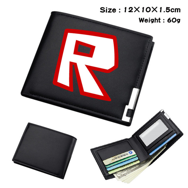 US $6 64 5% OFF|Roblox R Printed Game Anime Boys Girls Wallet Black Leather  Holder Wallet Short Purse Money Bag-in Wallets from Luggage & Bags on