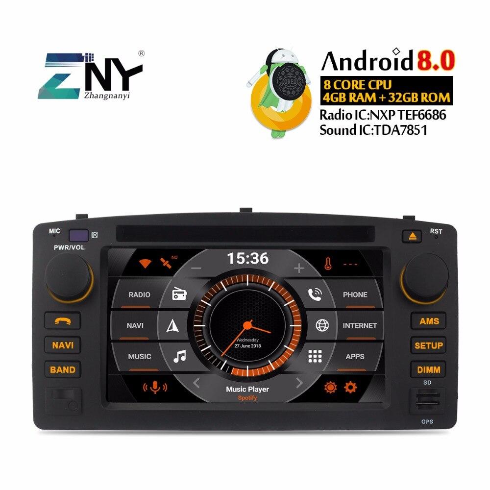 все цены на 4GB RAM Android 8.0 Car DVD For Toyota Corolla E120 BYD F3 Auto Radio FM RDS GPS Navigation Audio Video Free Backup Camera