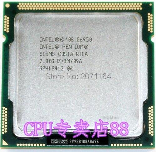 Free shipping for Intel Pentium G6950 2.8G 1156 Pin desktop computer CPU