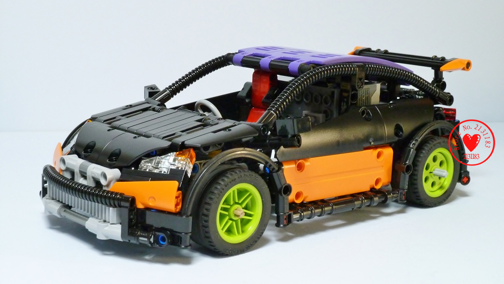 Lepin 20053 Genuine New Technic Series The Hatchback Type R Set MOC-6604 Building Blocks Bricks Educational Toys Boy Gifts Model new lepin 23012 2839pcs genuine technic series the arakawa moc tow truck tatra 813 educational building blocks bricks toys gift